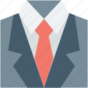 business suit, coat, dress coat, formal suit, suit icon