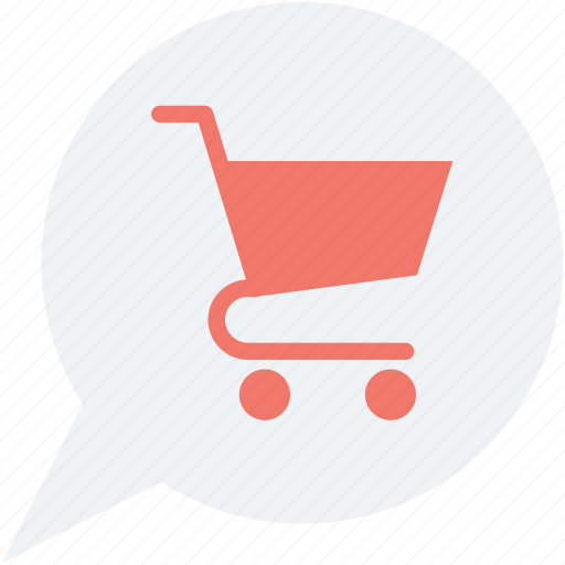 chat bubble, ecommerce, shopping, shopping cart, shopping trolley icon