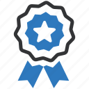 achievement, award, badge, best quality, prize, ribbon, winner icon