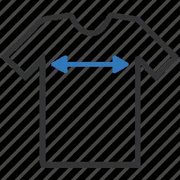 arrow, clothing, ecommerce, online shopping, shopping, sizes, t-shirt icon
