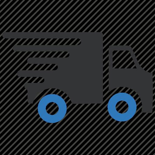 delivery, fast, shipment, transport, transportation, van icon