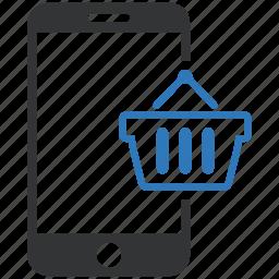cart, commerce, e, mobile, money, online, shopping icon