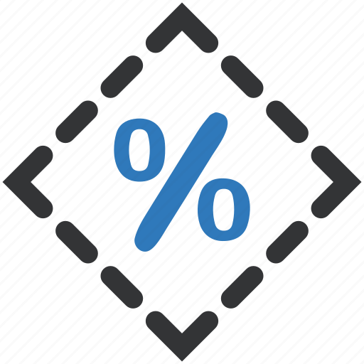 discount, ecommerce, percentage, promotion, sale, shopping, sticker icon