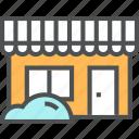 building, entrance, facade, front, market, retail, shop, store icon
