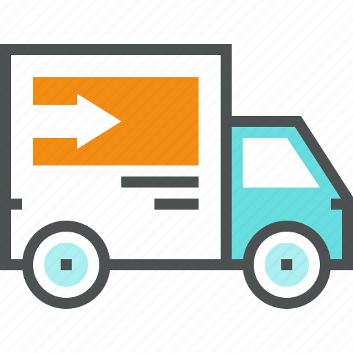 car, delivery, distribution, logistics, shipping, transport, truck, van icon
