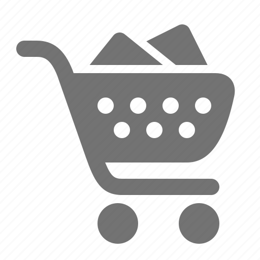 buy, cart, check-out, full, retail, shop, supermarket icon