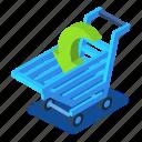 cart, d444, illustration, isometric, shopping, vector
