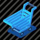 blue, cart, d444, isometric, shopping, vector