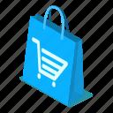 bag, d444, illustration, isometric, shopping, vector