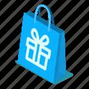 vector, illustration, shopping, bag, d444, isometric