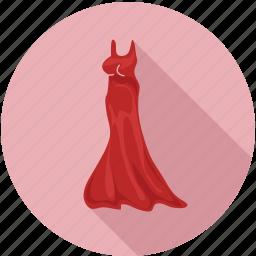 dress, female dress, lady dress, long dress, women, women dress icon