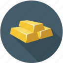bars, gold, gold bar, gold bars icon