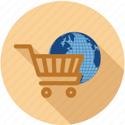 global, online shopping, shopping icon