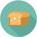 bread, bread slices, breakfast, food icon