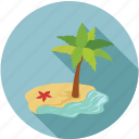 beach, holidays, travelling, vacations icon