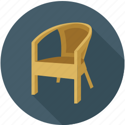 chair, furniture, sit on chair icon