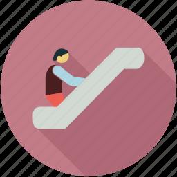 esclator, upstairs icon