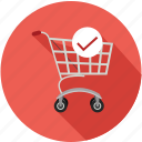 cart, check, shopping, shopping cart icon