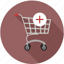 add in shopping cart, shopping cart add, shopping cart plus icon