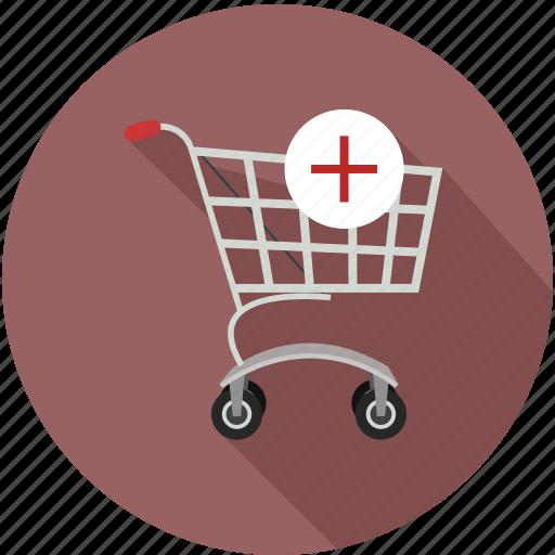 add in shopping cart, shopping cart add, shopping cart plus icon
