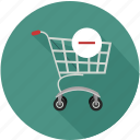 remove from shopping cart, shopping cart, shopping cart remove icon
