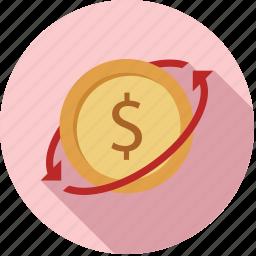 exchange money, funds, money, transfer, transfer funds, transfer money icon