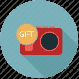 camera, gift, media, photo camera icon