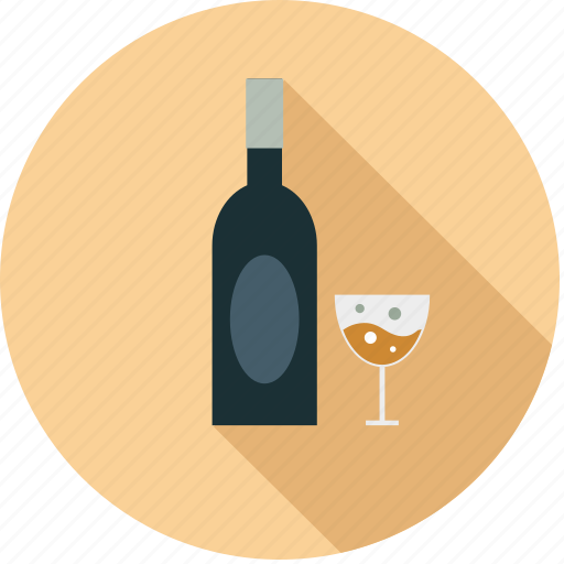 alcohal, bottle, drink, glass, wine icon