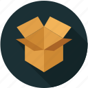 box, open box, package, packaging icon