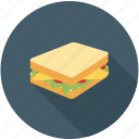 breakfast, food, sandwitch icon
