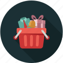 shopping, shopping bucket, shopping cart icon