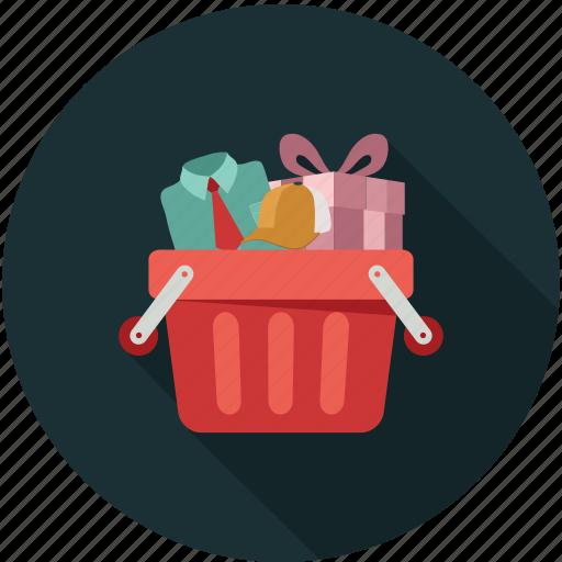 shopping, shopping bucket, shopping cart icon