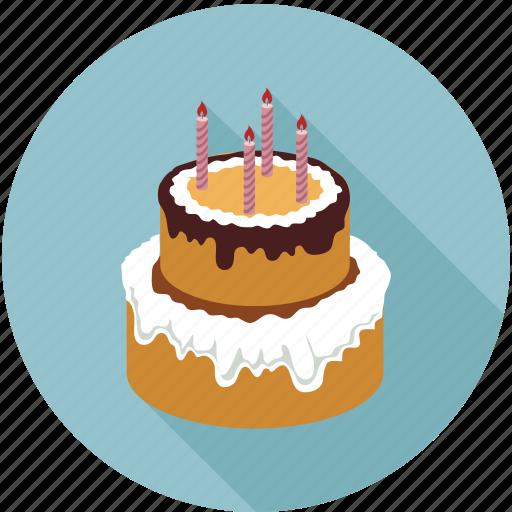 big cake, birthday cake, cake, large cake, wedding cake icon