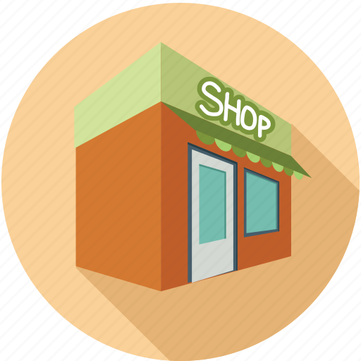 building, shop, shopping store, store icon