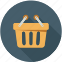 bucket, cart, shopping, shopping cart icon
