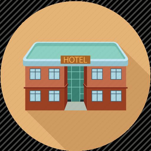 architecture, building, hotel icon