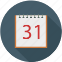 calendar, date, end of month, schedule icon