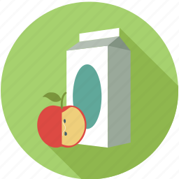 apple, milk, milk bottle, milk pack icon
