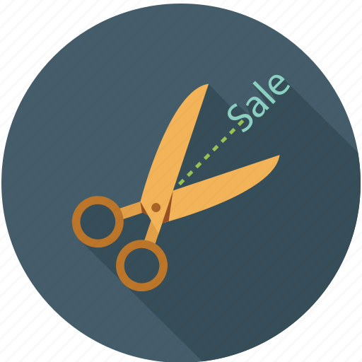 cut on price, sale, scizor icon