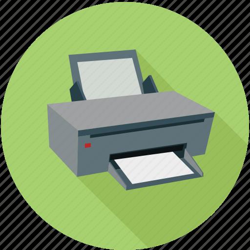 devices, hardware, printer, printing icon