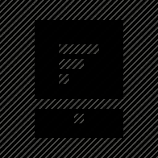 bar, chart, commerce, horizontal, market, shop, tablet icon