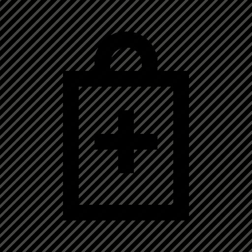 add, bag, commerce, market, shop, supermarket icon