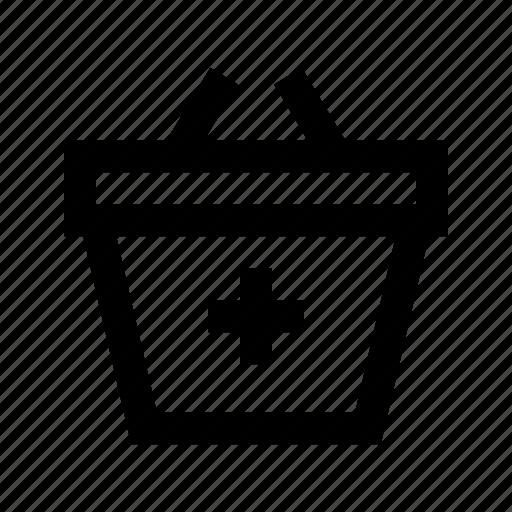 add, basket, commerce, market, shop, supermarket icon