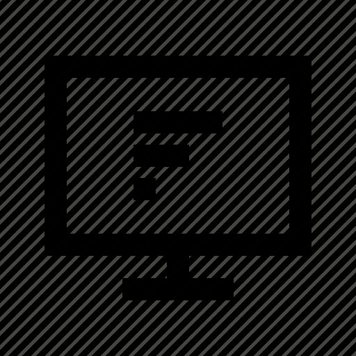 bar, chart, commerce, display, horizontal, market, shop icon