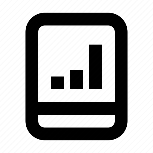 bar, chart, commerce, market, shop, supermarket, tablet icon