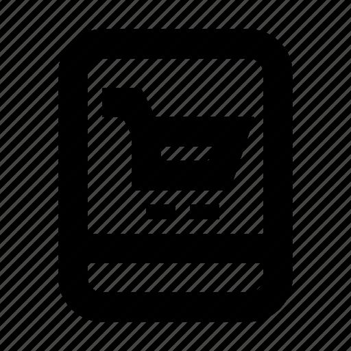 cart, commerce, market, shop, supermarket, tablet icon