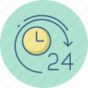 clock, hours, time, timepiece, twenty, wall, watch icon