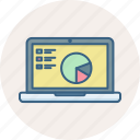 laptop, presentation, analysis, analytics, diagram, graph, screen