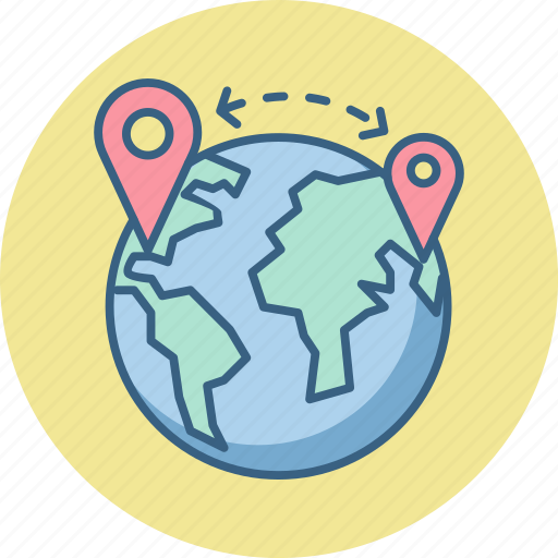 country, gps, location, map, navigation, world icon