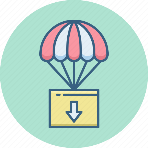 air, balloon, hot, parachute, paragliding icon